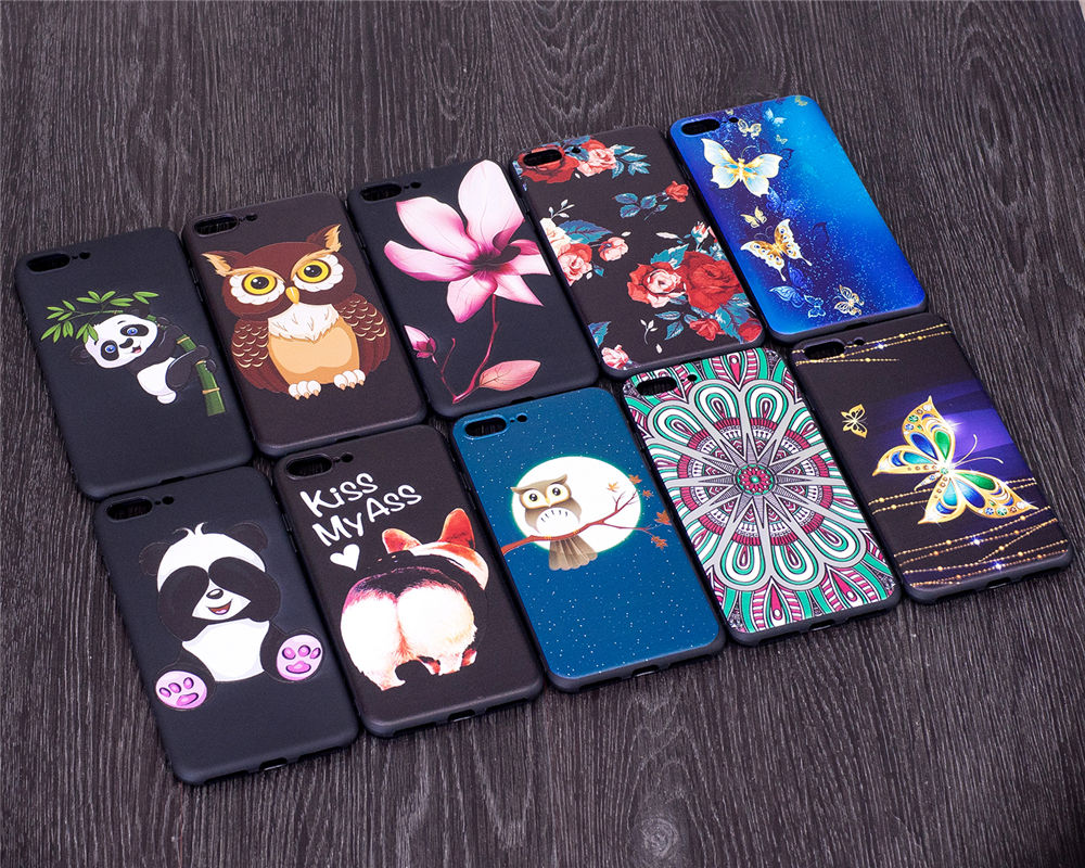 Cool Phone Cases Coque For Apple iPhone 7 Plus iPhone7Plus 5.5 Covers Relief TPU Fundas Capas For iPhone7Plus Cases Boys Girls