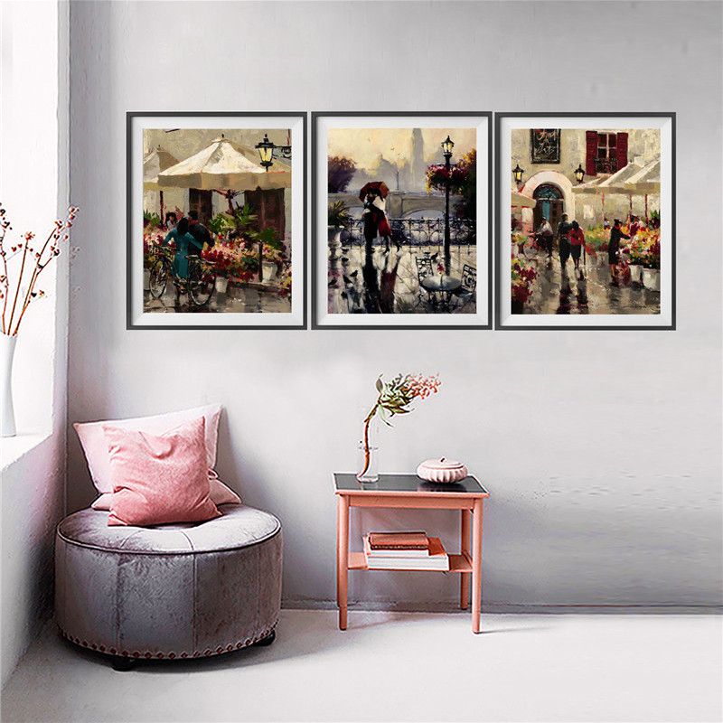 Newlywed Home Decor: MICSUNNY Vintage American Style Lover Romantic Oil