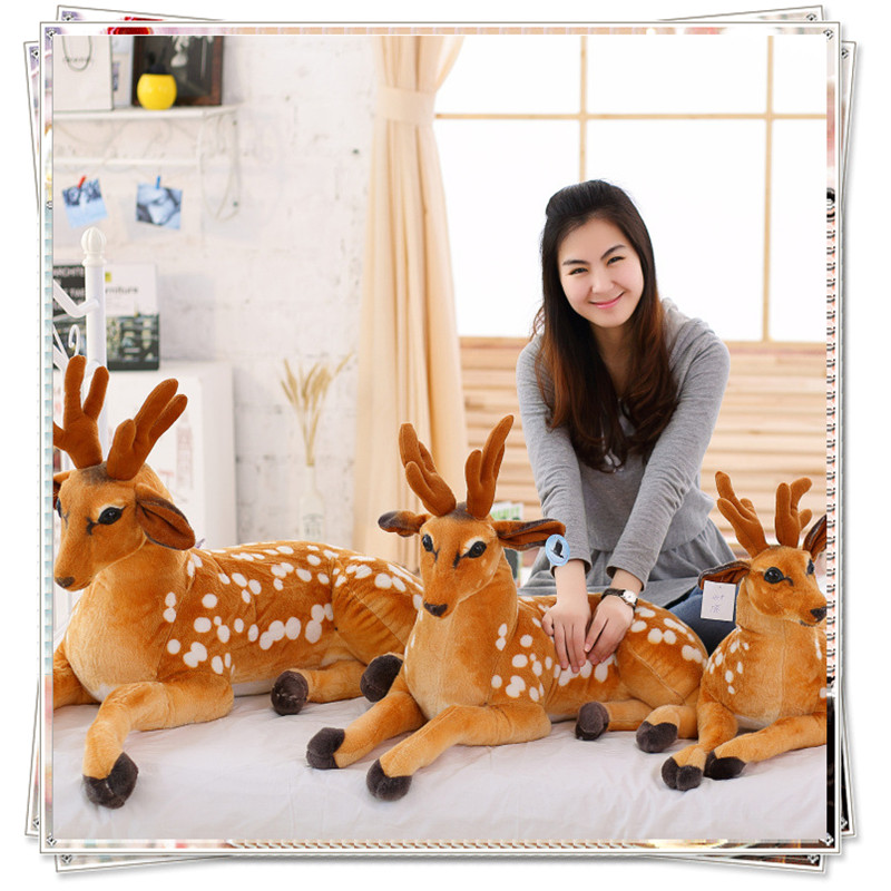 Giraffe Sika deer dolls cute pillow ty big eyed stuffed animals  stuffed animal kawaii plush cheap toys  valentine's day present hot sale cute dolls 60cm oblong animals pillow panda stuffed nanoparticle elephant plush toys rabbit cushion birthday gift