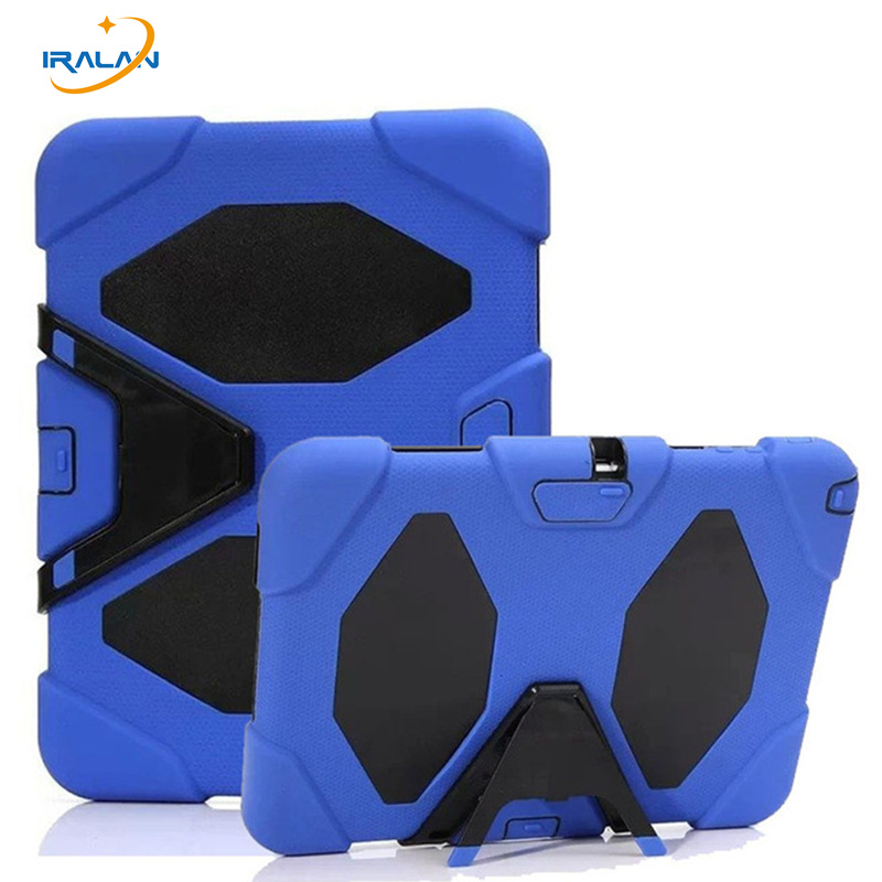 New Shockproof Silicone Case For Samsung Galaxy Tab 3 10.1 P5200 P5210 Tablet PC Durable Hybrid Rugged Stand Cover+Film+Stylus durable detachable silicone pc case for iphone 4 4s black blue
