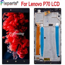 5.0 For Lenovo P70 LCD Display Panel Touch Screen Digitizer Assembly With Frame For Lenovo P70 LCD Replacement Parts 10 1inch lcd display touch screen digitizer with frame matrix for lenovo tab 3 10 plus tb x103f lcd module screen panel