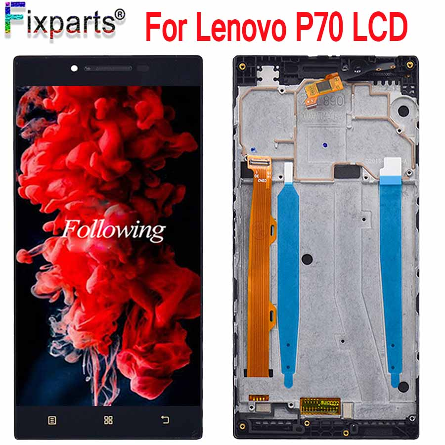 Original New <font><b>Lenovo</b></font> <font><b>P70</b></font> LCD <font><b>Display</b></font> Touch Screen Digitizer Assembly <font><b>P70</b></font>-A <font><b>P70</b></font>-T Replacement+Tools For 5.0