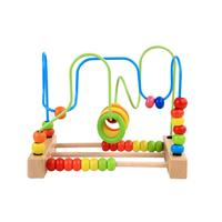 Creative Math Learning Toy Colorful Counting Bead Abacus Maze Roller Coaster Wooden Baby Mathmetic Teaching Education