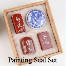 Комплект из 3 предметов китайский штамп печать комплект пустой Книги по искусству печатка уплотнение камень для практики живопись каллиграфия товары для рукоделия