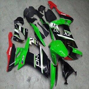Carenagens personalizadas de motocicleta, para zx10r 2008 2009 2010 ZX-10R 08-10 kit corporal + parafusos gratuitos + verde vermelho m2