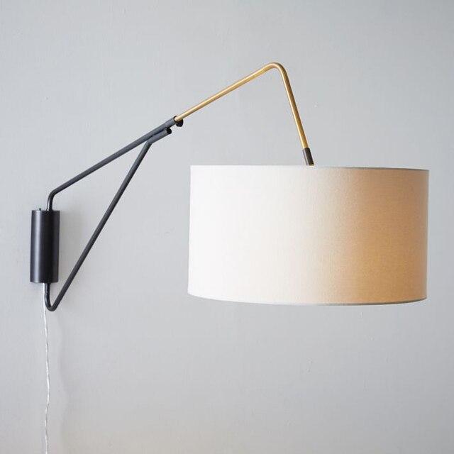 Aliexpress.com: Acheter Rétro Simple Tissu Abat Jour Mur Lumière ...