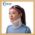 Cuello Dispositivo de Tracción Cervical Collar del soporte de Apoyo duro Rígido Con barbilla Con 2 unids de Placa de Soporte se puede Ajustar la Altura plástico