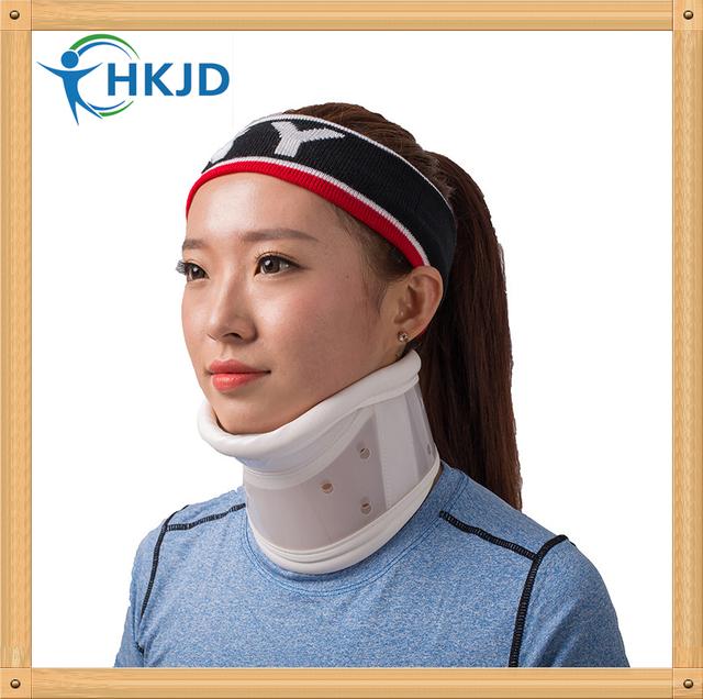 Rígido ajustable Cervical Cuello Dispositivo de Tracción Cervical Collar de Cuello Con Cuello de La Barbilla de Apoyo Duro Apoyos de la Ayuda
