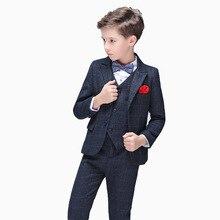 Flower Boys Formal Suit for Weddings Children Blazer Jacket