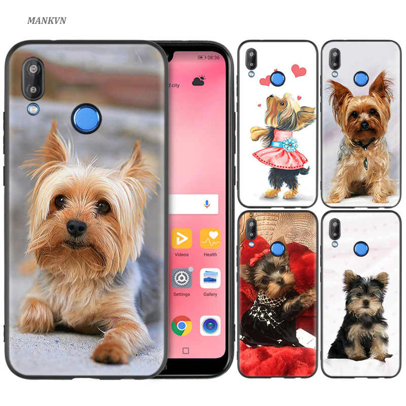 Silicone Case Cover for Huawei P20 P10 P9 P8 Lite Pro 2017 P Smart+ 2019 Nova 3i 3E Phone Cases yorkshire terrier dog puppy