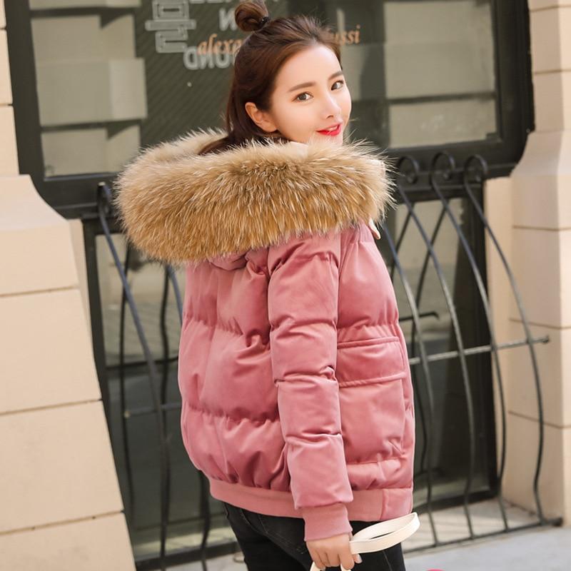Winter Jacket Women Real Raccoon Fur Hooded   Parka   2019 New Fashion Thicken Velvet Coat Female Jacket Warm Winter Velour Coat