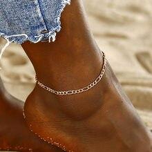ff01fa1924dc Nueva de moda Simple de oro Color verano tobillera elegante playa pulsera  para el tobillo para las mujeres joyería al por mayor .