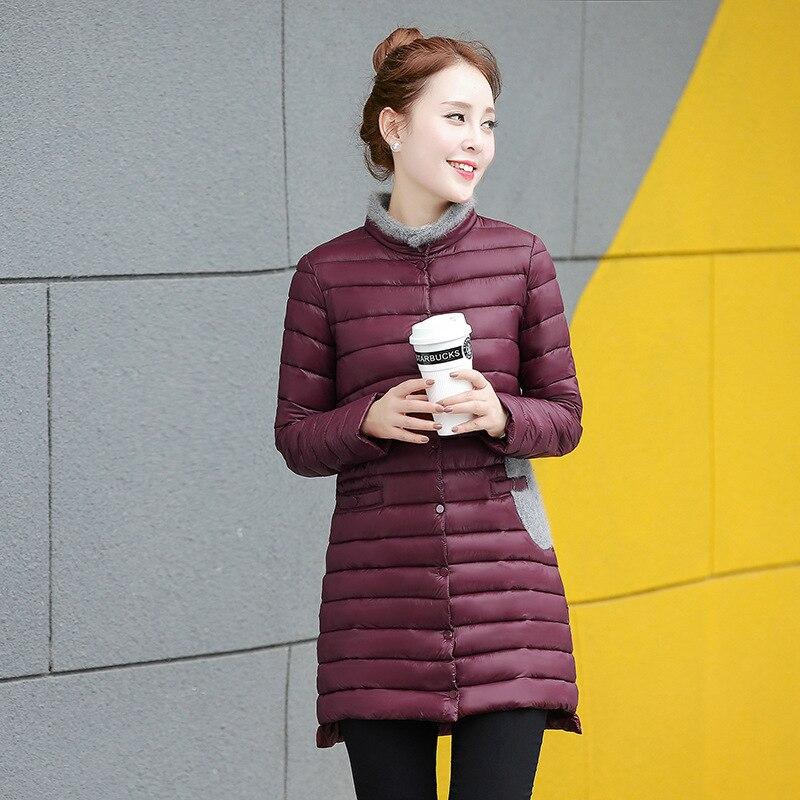 2016 Winter Women Down Coat Fashion Fur Collar Long Warm Woman Coat Soft Cotton Jackets Padded