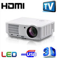 Lo nuevo 5500 lumnes Mejor Hogar Theater1280X800 Multimedia 1080 P HD Video 3D HDMI USB LCD LED Proyector Full HD proyector