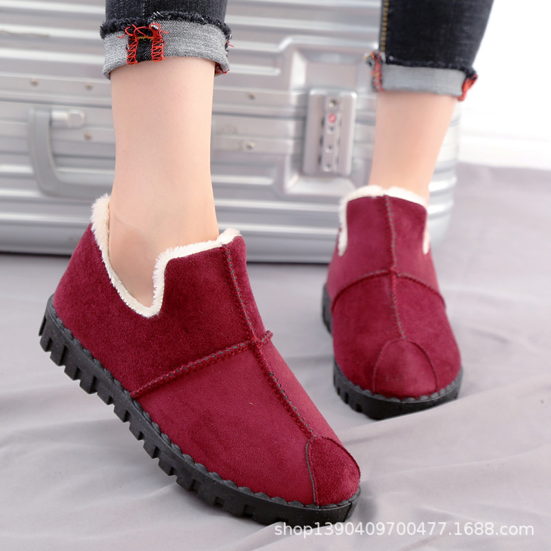 Winter New Women Snow Boots Fashion Plush Warm Slip on Low Cut Shoes Woman Classic Brand Design Ladies Casual Booties Promotion in Ankle Boots from Shoes