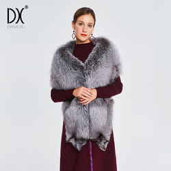 Winter Koud Weer Faux Vossenbont Pashmina Super Grote Wraps Bruid Faux fur Sjaal Luxe Warm Bont Sjaal Bont Stola vrouwen Sjaal