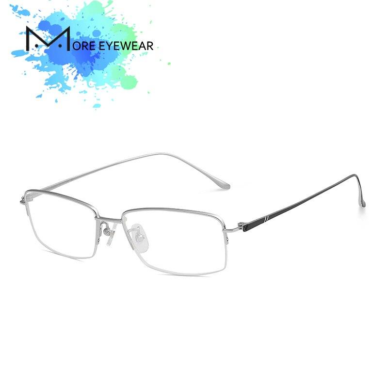 Metall Myopie Ultraleicht Platz Brillen Silber Optische Legierung Titan Männer Rahmen vqZwXYy1