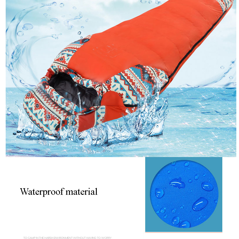 Down Sleeping Bag For Winter Camping  Liner Tent Waterproof Mummy Sleeping Bag Camping Equipment Camping Bags Sleep For Outdoor  5