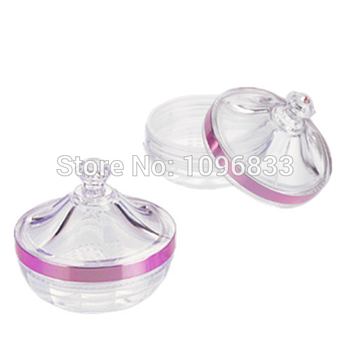 Transparent Acrylic Empty Refillable Castle Style Powder Puff Box Make-up Loose Powder Box Powder Container Jar Jewel Case