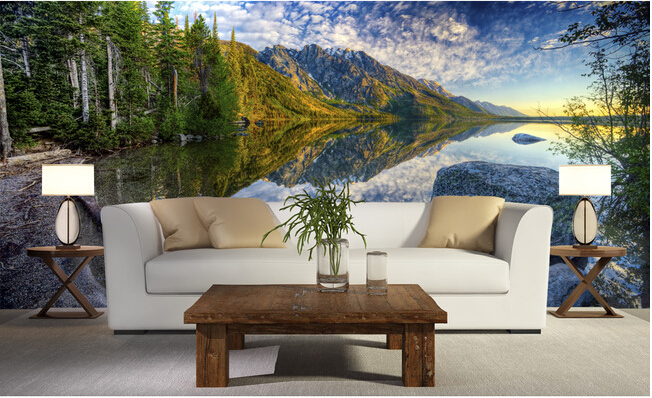 цены The latest 3D wallpaper, de parede Papel, the landscape of mountains and rivers,living room sofa TV wall, bedroom wall paper.