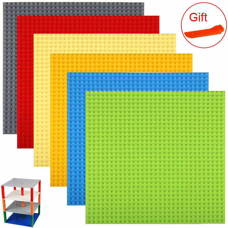 "10""*10"" 32*32 Dots Double Side Base Plate for Small Size Bricks DIY Building Blocks Baseplates Compatible with LegoED Blocks"