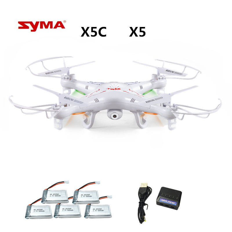 Syma X5C X5C-1 (Drone avec Caméra 2.0MP) Quadrocopter avec Caméra RC Drone Quadcopter ou Syma X5 X5-1 (pas de Caméra) 2.4G 4CH Dron