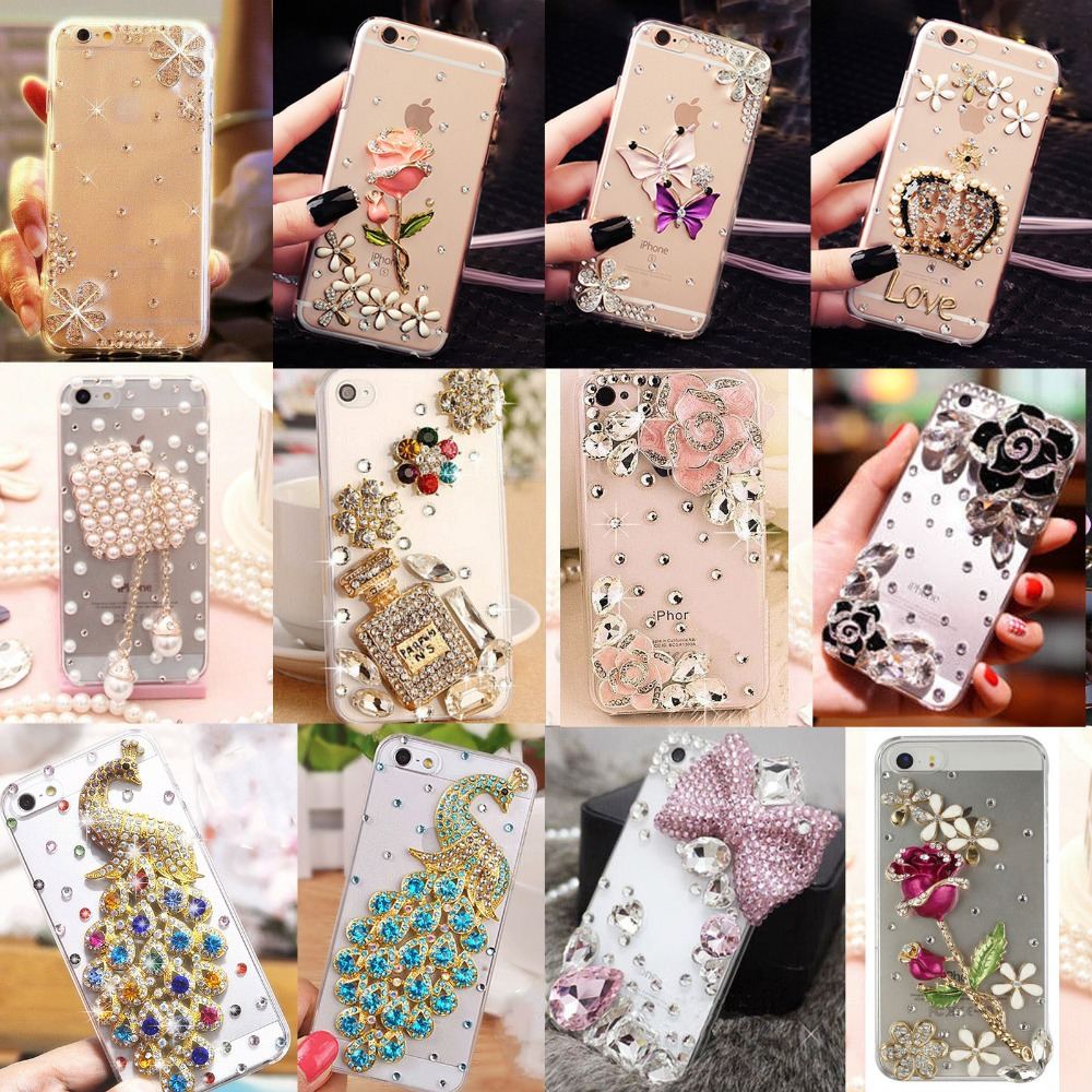 Smartphone case Bling Crystal Pearl Rhinestone Soft Clear Case Cover Transparent Soft shell For iPhone XS Max XRX8 Plus6s p