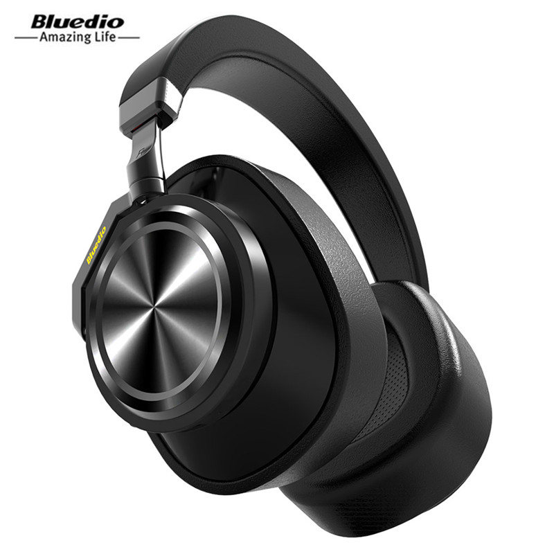 Bluedio T6 Headphone Active Noise Cancelling Headphones Wireless Bluetooth Headset With Microphone For Phones And Music original bluedio t2s bluetooth headphones with microphone wireless headset bluetooth for iphone samsung xiaomi headphone