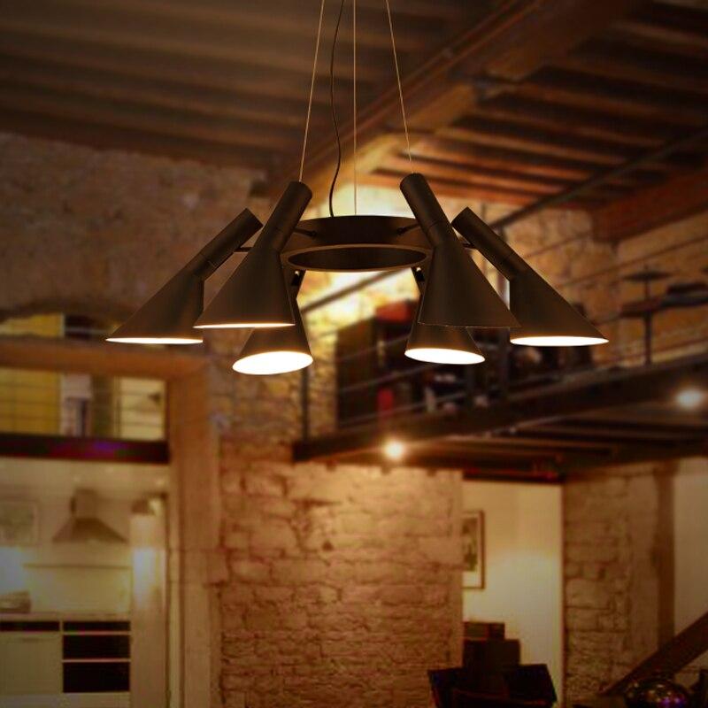 Винтажный железный подвесной светильник Светодиодный промышленный Лофт подвесной светильник Ретро Бар Кафе спальня ресторан американски