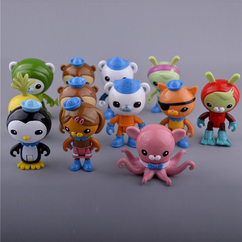 6pcs/set New Cartoon The Octonauts Action Figure Toys Super Lovely Captain Barnacles Medic Peso Figures Model toy for kid gift new very cool action toy figures 6 pcs orcs with weapon ancient military solider model set diy assembly half orc model puppet