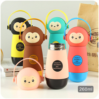Cute Stainless Steel Thermos Bottle Water Vacuum Flask Children Kettle Kids Drink Cup With Cover Portable