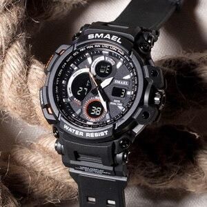 Image 4 - メンズ腕時計 2018 SMAEL トップブランドの高級時計男性グラムスタイル軍事軍 S ショックスポーツ腕時計 LED アナログデジタル時計 Saat