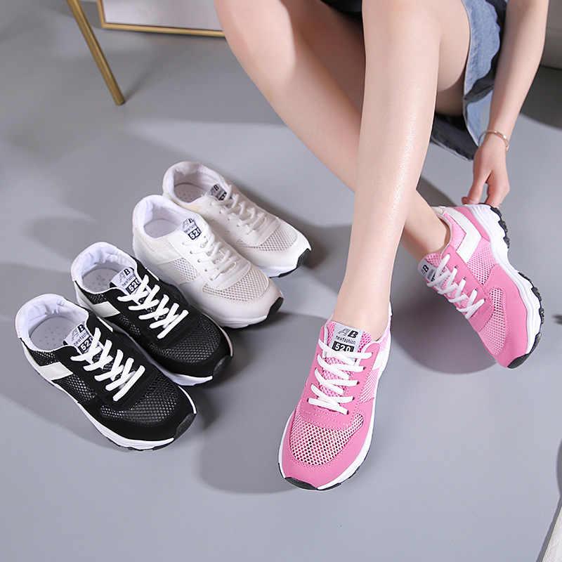 2019 ผู้หญิงฤดูร้อน vulcanized รองเท้าสบายๆตาข่าย breathable แฟชั่นรองเท้า Femme Krasovki