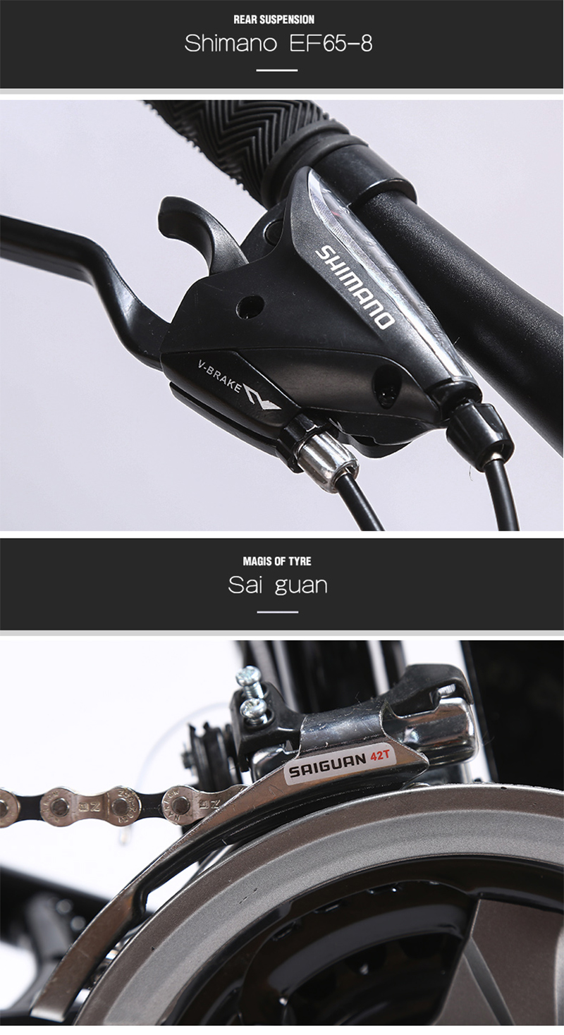 "HTB1n1DsXjzuK1RjSspeq6ziHVXaJ LAUXJACK Fat Bike Full Suspension Steel Foldable Frame 24 Speed Shimano Mechanic Brake 26""x4.0 Wheel"