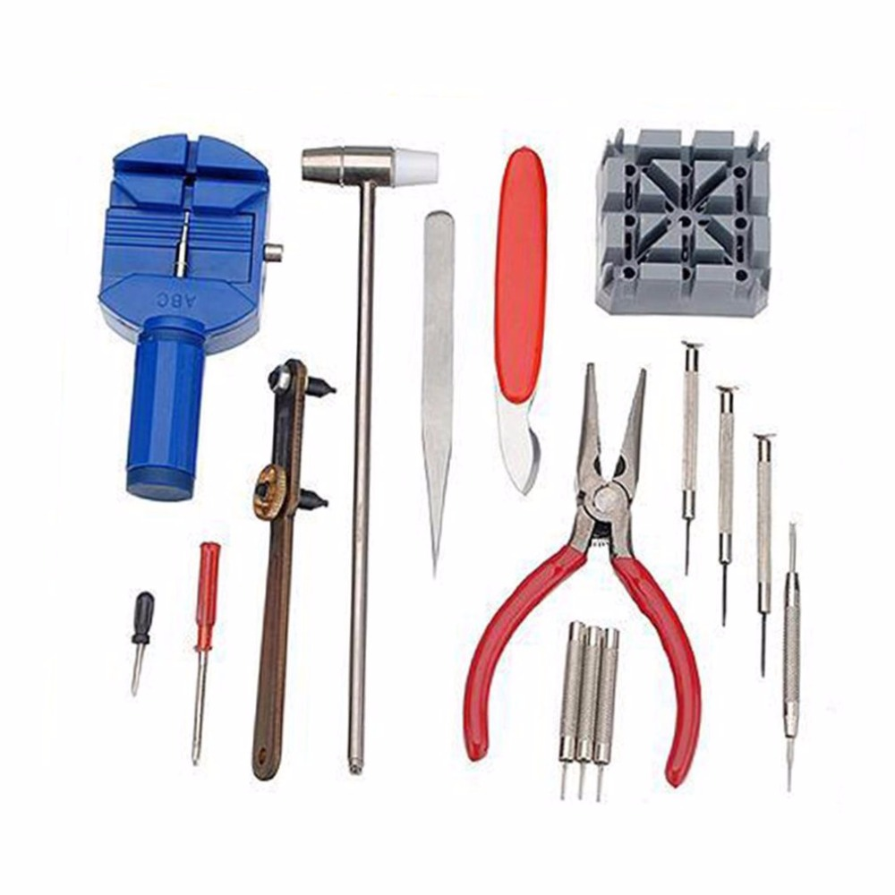16PSC lover Opener Holder Wrench Screwdriver Repair Tool Kit watch tools repair