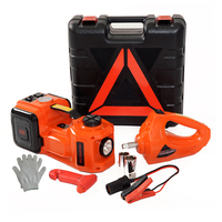 12V Dc Power Hydraulic Car Jack Inflatable 5 Ton Portable Lift Electric Fast Air Compressor Wrench Auto Tire Repair Tools Set
