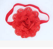 Toddler Baby Girls Cute 3D Flower Headdress Fashion Lace Flower Headbands Pure Color Headwear 8 Color Accessories for Choice(China)