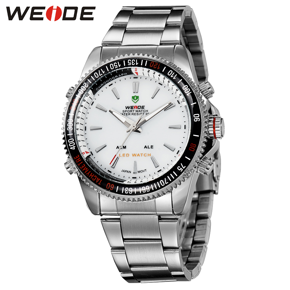 WEIDE  Top Brand New Hot Sport Quartz Fashion Casual Stainless Steel Relogio Masculino Luxury Fashion Watch Men Watches WH903 new fashion brand round dial black couple watch men luxury stainless steel casual quartz watches relogio masculino clock hot