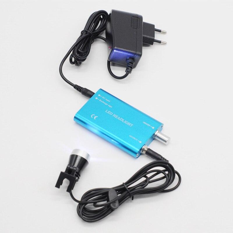 Phare portatif de lampe de tête de loupe binoculaire médicale d'article dentaire pour le laboratoire de dentiste