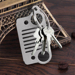 New arrival car key chain stainless steel grill keychain key ring for jeep grill cj jk.jpg 250x250