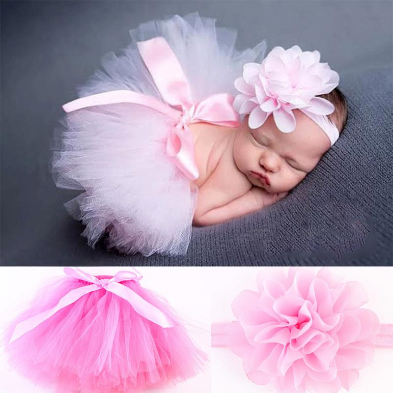 New Design Baby Girl Tulle Tutu Skirt Newborn Photography Props Bowknot Baby Tutu Skirt Gift For 0-6 Months