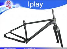 Hot selling fat bike frame 26er carbon snow bike frameset Rear Space 197*12mm carbon fat bike frame 120mm BB snowbike frame fork cheap IPLAY Matte IP-018 1260+ -40g (18 ) carbon fiber Toray T700 135*15mm Fork 550±20g 1-1 8 1-1 2 16 18 20 BSA(120mm)