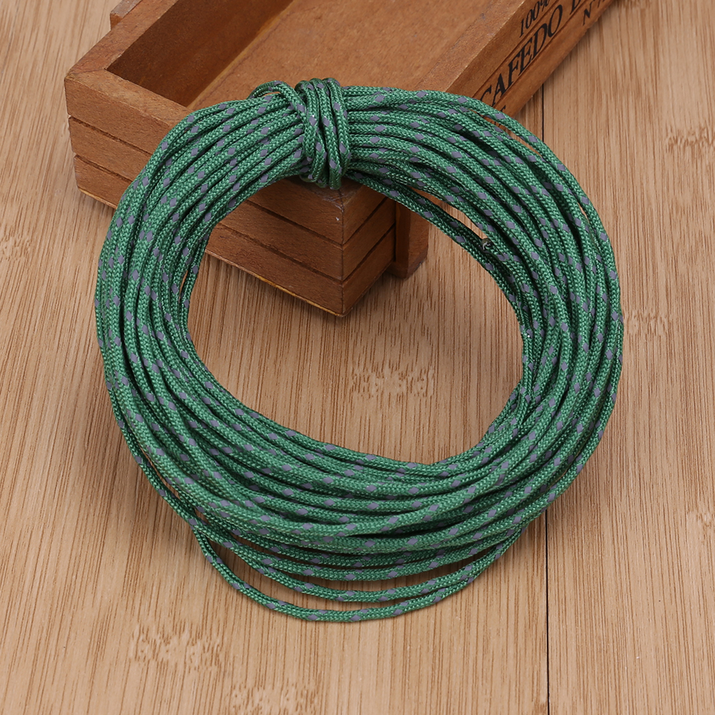 2.5MM Diameter 50Ft Reflective String Windproof Tent Rope Guy Line ...