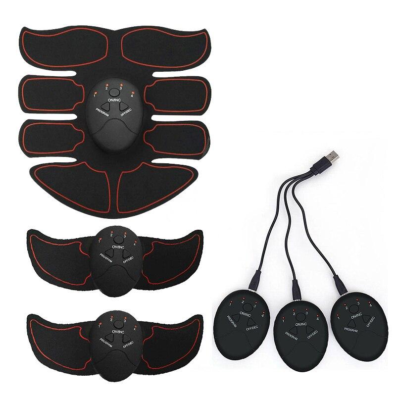 Беспроводной Перезаряжаемый стимулятор мышц, умный фитнес-тренажер EMS, АБС-пластик, тренажер для мышц живота, массаж для похудения тела