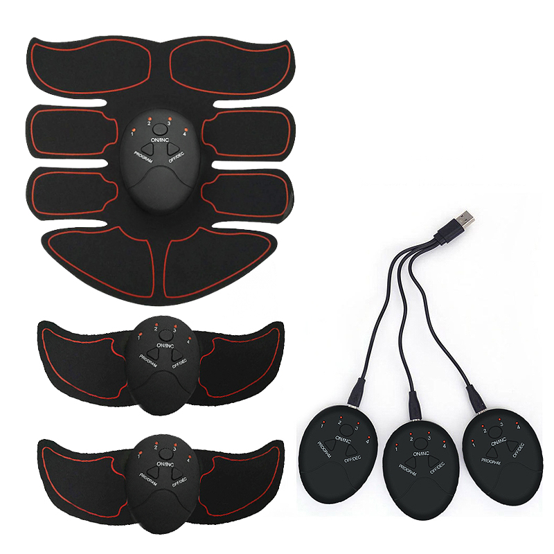 Rechargeable Wireless Muscle Stimulator Smart Fitness EMS Trainer ABS Abdominal Arm Muscle Exerciser Body Slimming MassageAbdominal Massage Instrument   -