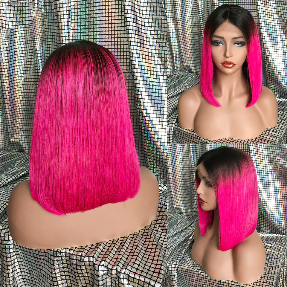 KL-Hair-Ombre-Color-Bob-Wigs-Pre-Plucked-Lace-Front-Human-Hair-Wigs-Straight-Brazilian-Remy (3)