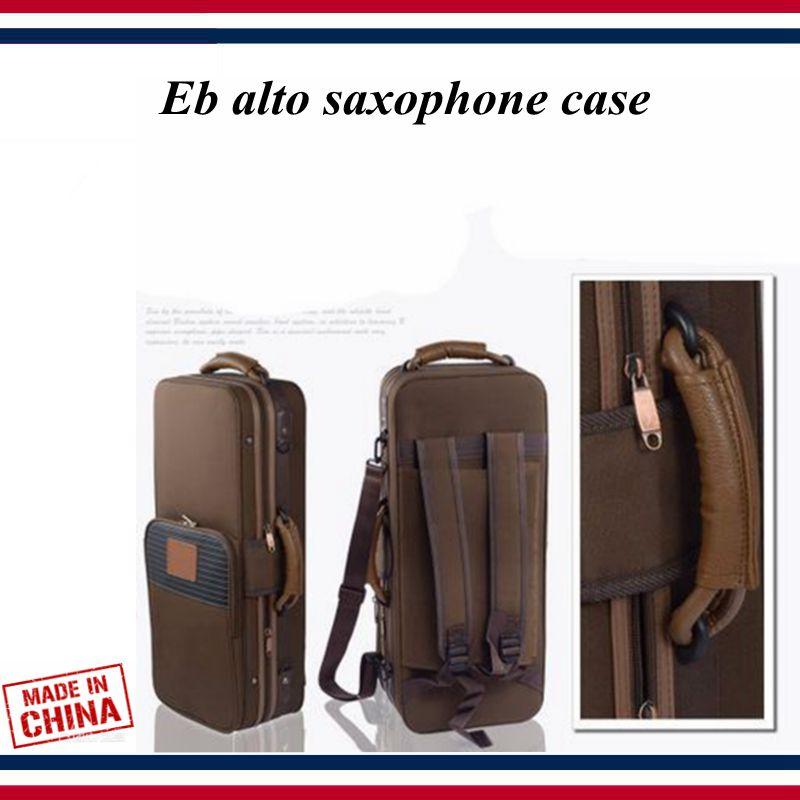 Saxophone Accessories - Saxophone Case - Eb Alto Saxophone Waterproof Canvas Box Bag , Brown Light Backpack - Saxophone Parts