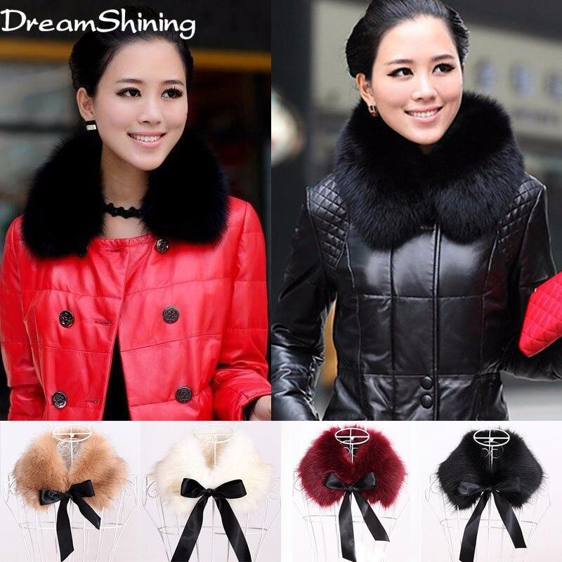 DreamShining Hot Selling Faux Fur Scarf Womens