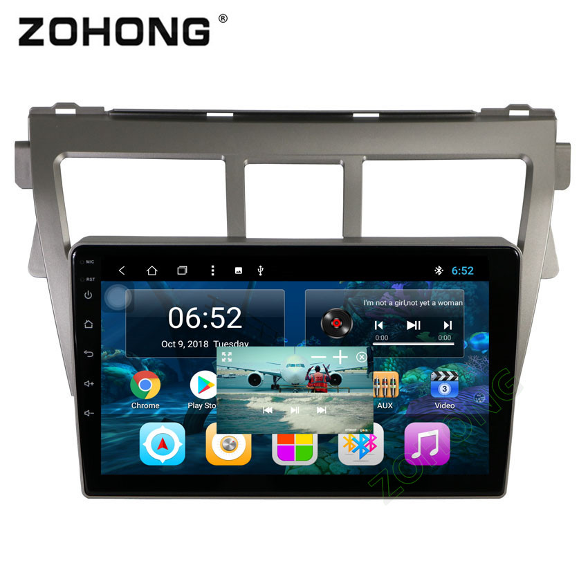 2 5D 9 inch Octa 8 Core 2G RAM Android Car DVD Player for Toyota Vios