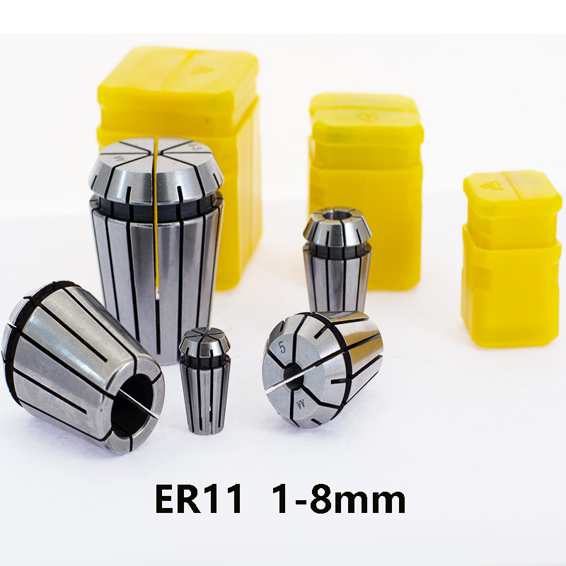 ER11 1mm 2mm 3mm 3.175 4mm 5mm 6mm 7 8mm CNC Machining Center, Carving Machine Precision Spring Chuck Tool Holder Milling Cutter